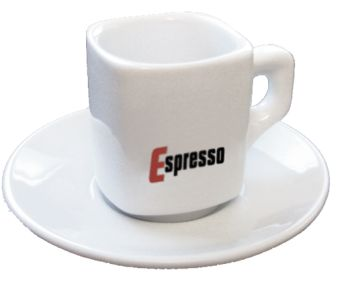 Square Shape White Espresso Cups - Set of 6 HOT DEAL