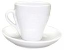 Pear Shape White Cappuccino Cups - Set of 6