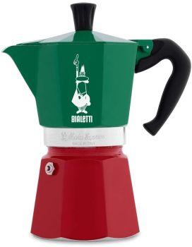 Bialetti 6 Cups - 300ml TRICOLOR Stove Top Espresso Maker