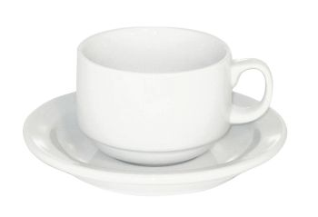 Straght Shape White Espresso Cups - Set of 6