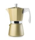 Ibili 3 Cups - 200ml Evva Golden Espresso Maker