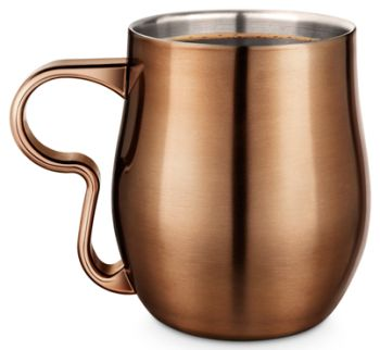 FinalTouch 17oz - 500ml Double Wall Curvy Copper Cup