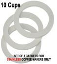 Replacement 10 Cups Gaskets for STAINLESS Coffee Makers
