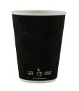 Ripply 12oz - 360ml Black Cup Pack of 500