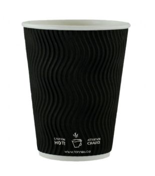 Ripply 12oz - 360ml Black Cup Pack of 500