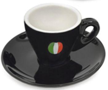 Italian 5.5 oz BLACK Cappuccino Cups Set of 6