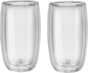 Zwilling JA Henkels Sorrento 12 oz LATTE Double Wall Glass Cups Set of 2
