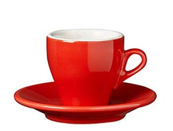 Nuova Point Red Espresso Cups Set of 6