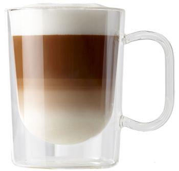Barista 13 oz Latte Double Wall Glass Cups Set of 2