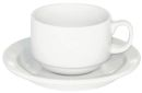 Straight Shape White Cappuccino Cups - Set of 6