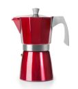 Ibili 6 Cups - 300ml Evva Red Espresso Maker - TODAY'S HOT DEAL