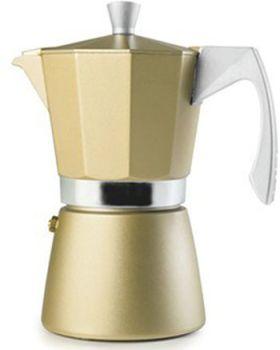 Ibili 12 Cups - 775ml Evva Golden Espresso Maker