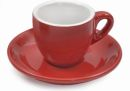 Italian 5.5 oz Red Cappuccino Cups Set of 6
