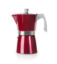 Ibili 3 Cups - 200ml Evva Red Espresso Maker