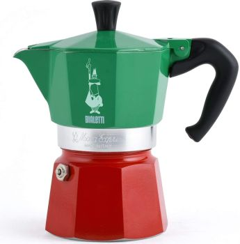 Bialetti 3 Cups - 200ml TRICOLOR Stove Top Espresso Maker