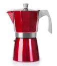 Ibili 9 Cups - 550ml Evva Red Espresso Maker