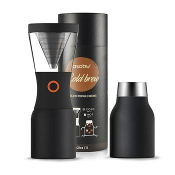 Asobu 8 Cups - 40 oz Cold Brew Insulated BLACK Brewer