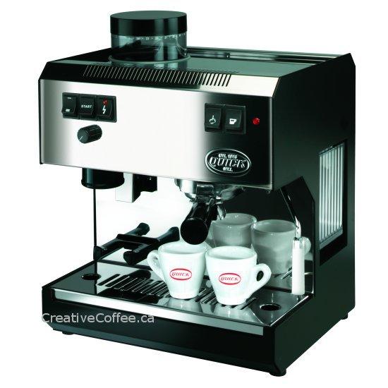 quick mill 2835 machine avec moulin a cafe creative coffee. Black Bedroom Furniture Sets. Home Design Ideas