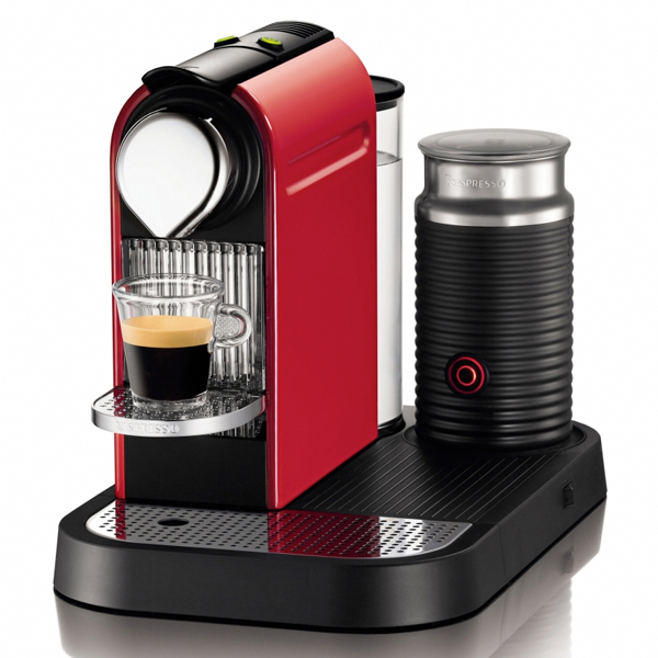 Nespresso Citiz avec Mousseur a Lait Rouge - Creative Coffee