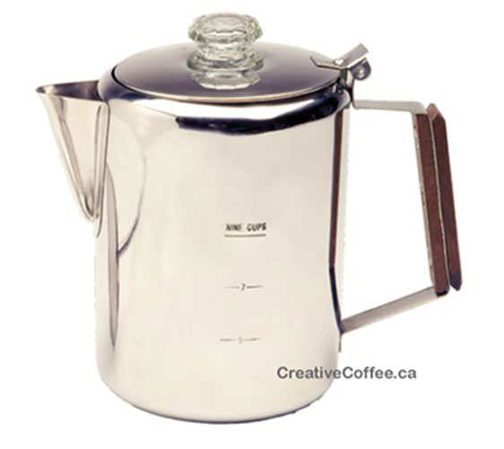 Percolator 12 Cups Stainless Steel Coffee Pot Creative
