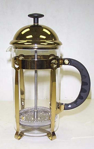 8 cup pyrex classic gold french press coffee tea maker creative coffee. Black Bedroom Furniture Sets. Home Design Ideas