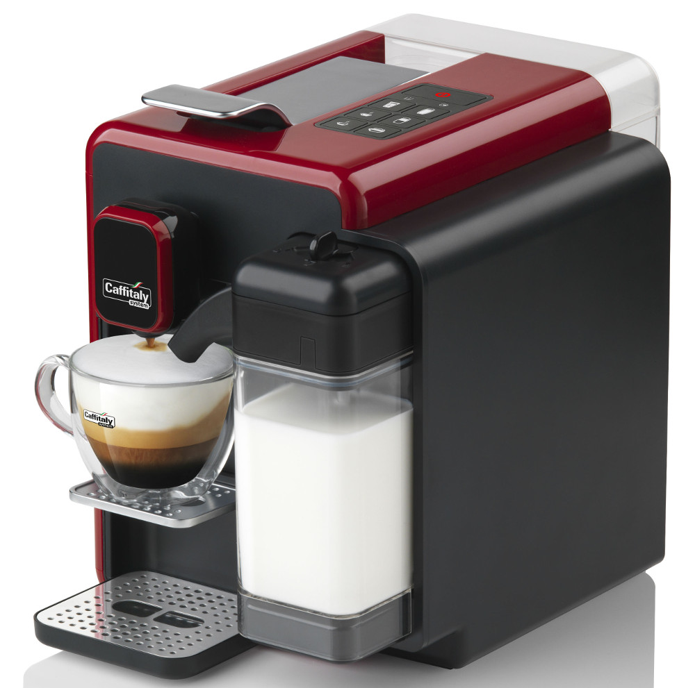 caffitaly s22 cappuccina red coffee capsule machine creative coffee. Black Bedroom Furniture Sets. Home Design Ideas