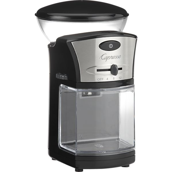 Capresso Coffee Maker With Built In Grinder : Capresso Stainless Steel Coffee Burr Grinder Creative Cookware