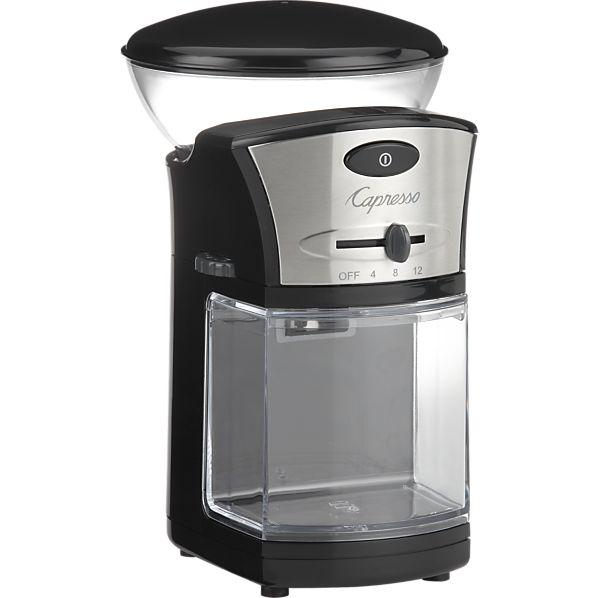 Capresso Stainless Steel Coffee Burr Grinder Creative Cookware