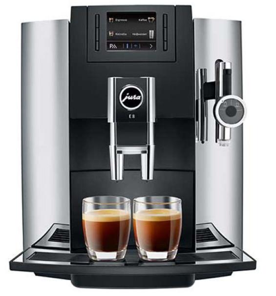 jura impressa e8 chrome automatic machine creative coffee. Black Bedroom Furniture Sets. Home Design Ideas