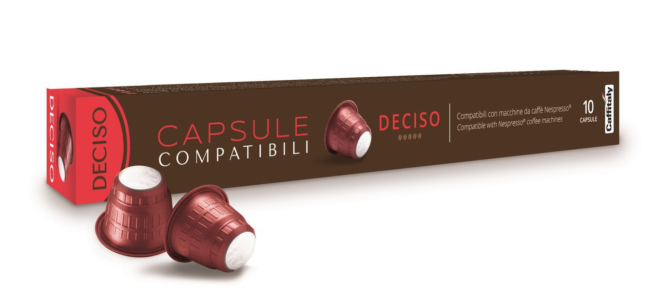 Célèbre CAFFITALY NESPRESSO® Compatible DECISO Blend - Pack of 10  VC02