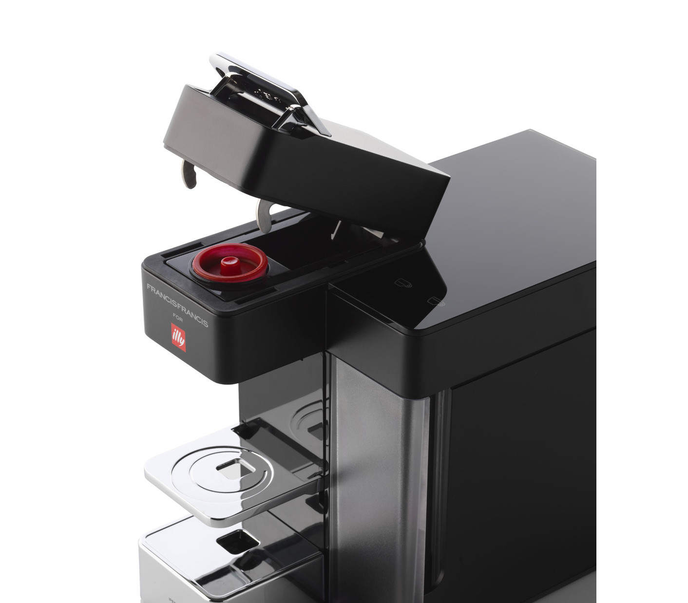 illy francisfrancis iperespresso y5 duo satin machine. Black Bedroom Furniture Sets. Home Design Ideas